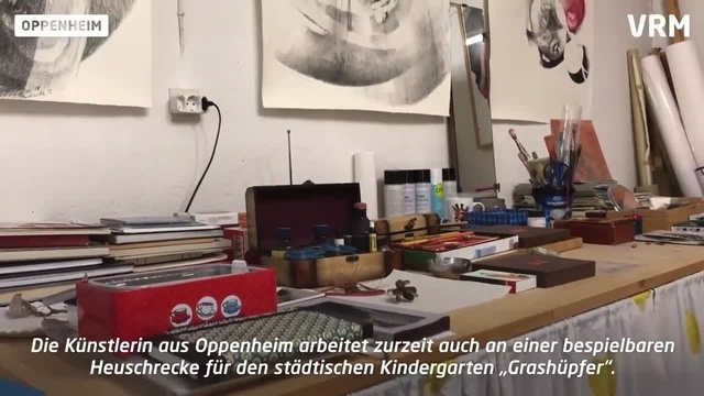 Die Oppenheimer Künstlerin Carmen Stahlschmidt
