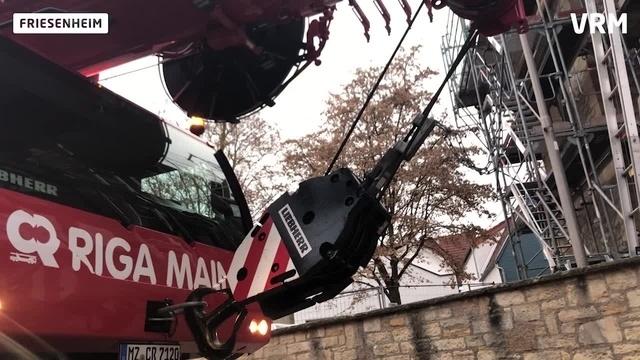 Friesenheims Kirchspitze wird repariert