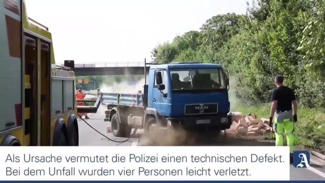 Lastwagen umgekippt - Unfall auf der A60 bei Mainz
