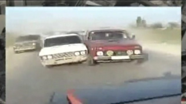 Straßen-Rowdies in Russland