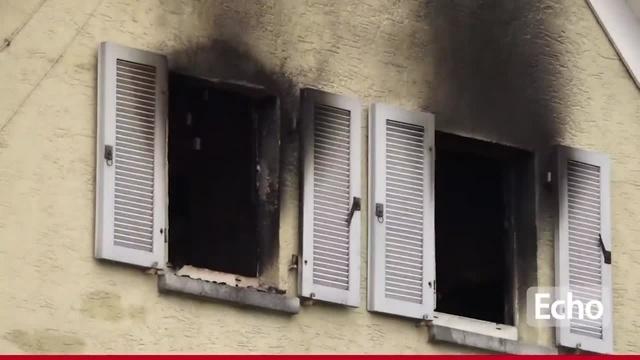 Dachbodenbrand in Gernsheim