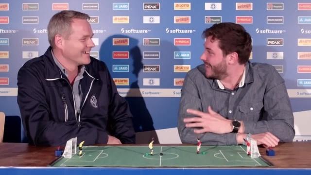 Lilien inside: Colin Mahnke spricht mit Lilien-Vizepräsident Markus Pfitzner