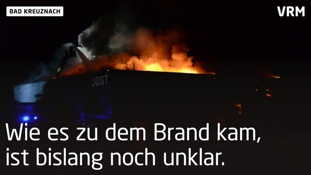 Großbrand in Bad Kreuznacher Industriegebiet