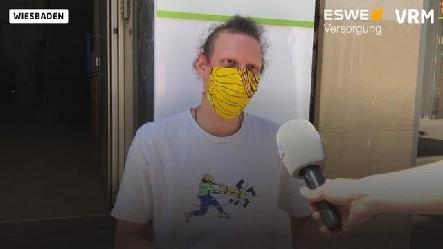 Was die Wiesbadener von der Maskenpflicht halten