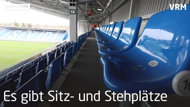 Gegengerade im Darmstädter Merck-Stadion ist fertig