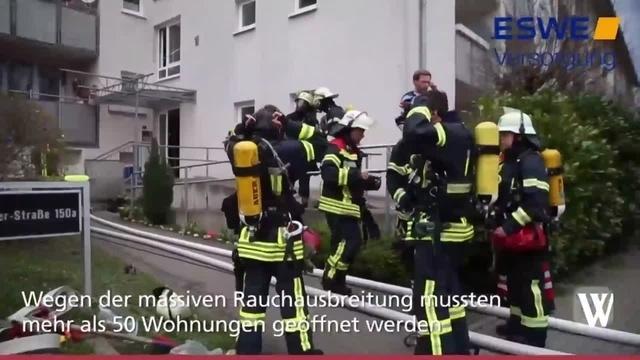 Wiesbaden: Kellerbrand in der Platter Straße