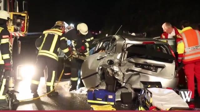 Wiesbaden: Schwerer Unfall auf der B54