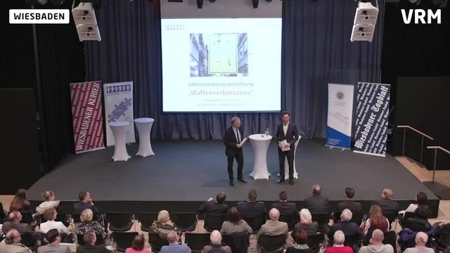Wiesbaden: Infoveranstaltung zur Waffenverbotszone