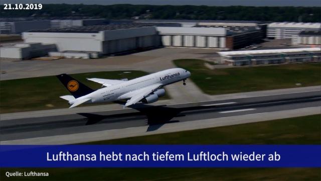 Aktie im Fokus: Lufthansa hebt nach tiefem Luftloch wieder ab