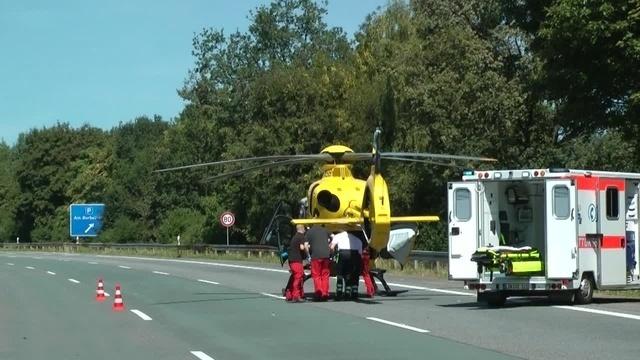 Fünf Verletzte nach Auffahrunfall auf A 45 bei Haiger