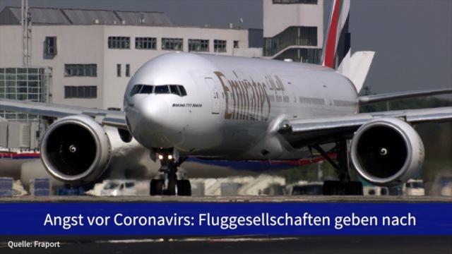 Aktien im Fokus: Angst vor Coronavirus: Fluggesellschaften geben nach