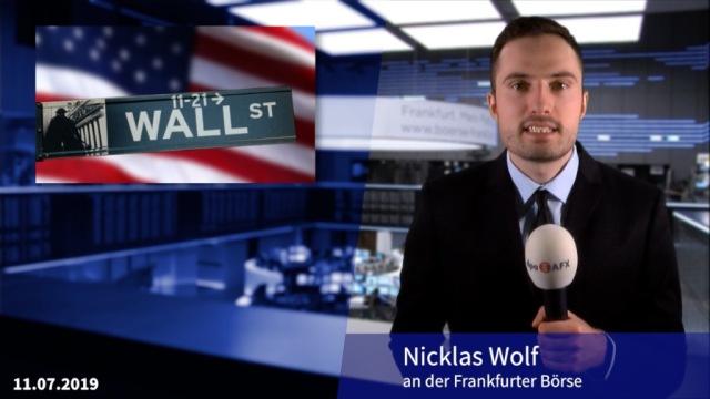 Gewinnwarnungen überschatten Zinshoffnungen - Dow auf Rekordhoch