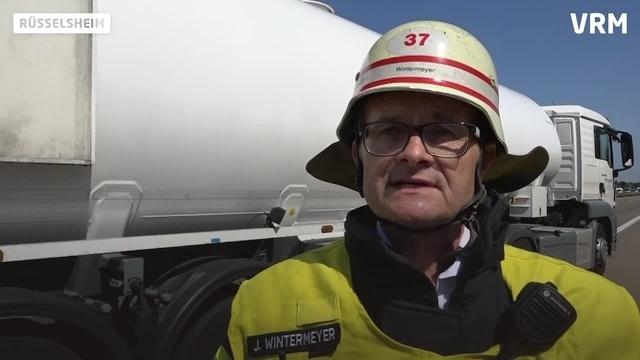 Rüsselsheim: Vollsperrung nach Unfall auf A60