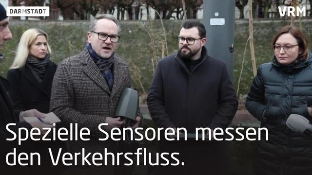 Intelligente Straßenlaternen in Darmstadt