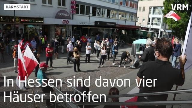 Darmstadt: Demo gegen Schließung von Karstadt Kaufhof
