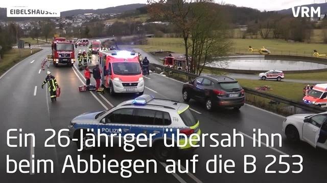 Unfall auf der B 253 bei Eibelshausen