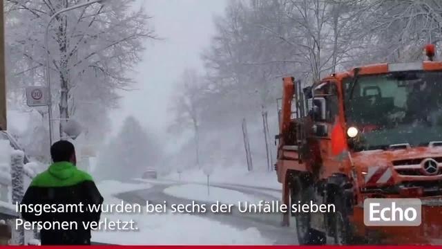 Südhessen: Wintereinbruch überrascht viele Autofahrer