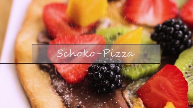 Schoko-Pizza