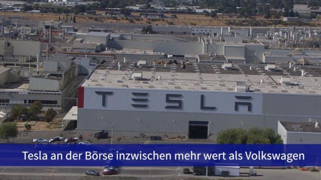 Aktie im Fokus: Tesla jetzt mehr wert als Volkswagen