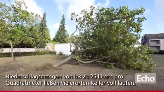 Darmstadt: Aufräumarbeiten nach Sturmtief Fabienne