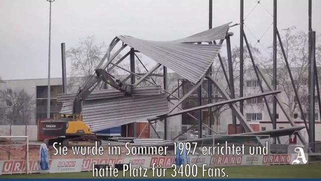 Mainz: Abschied von der Nordtribüne im Mainzer Bruchwegstadion
