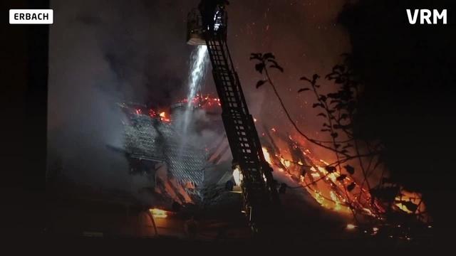 Dachstuhlbrand an Erbacher Grundschule