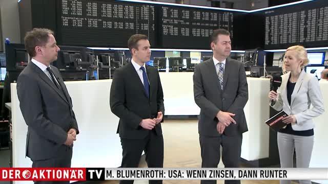 Börsenplatz Talk Halver, Stanzl, Blumenroth: Wenn Zinsen, dann runter? Wenn Brexit - dann hart?