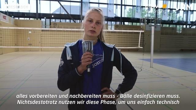 VC Wiesbaden: Training unter Corona-Auflagen
