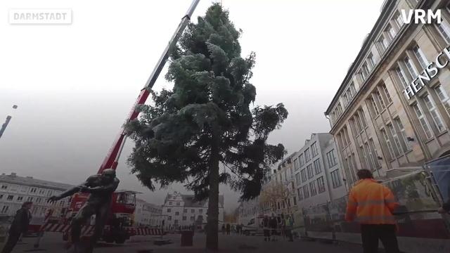 Es wird weihnachtlich auf dem Darmstädter Marktplatz