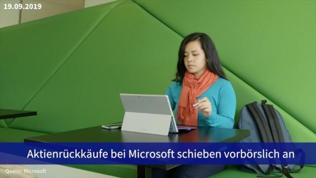 Aktie im Fokus: Aktienrückkäufe bei Microsoft schieben vorbörslich an