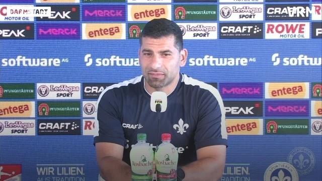 Pressekonferenz SV Darmstadt98 gegen SV Wehen Wiesbaden