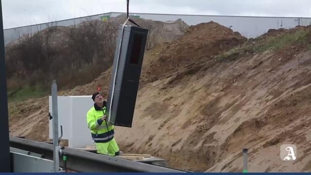 Mainz: Blitzer an der A60 ist montiert