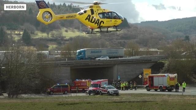 Zwei Herborner werden bei Unfall schwer verletzt