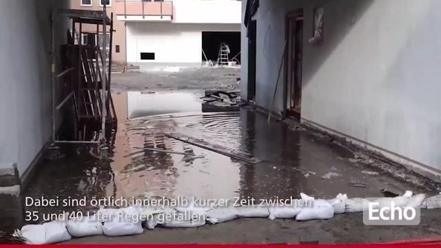 Überschwemmung in Südhessen