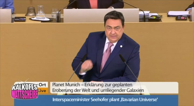 Interspaceminister Seehofer plant 'Bavarian Universe'