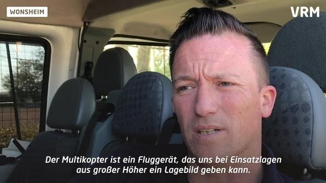 Multikopter hilft Feuerwehr der VG Wöllstein