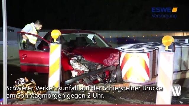 Schwerer Unfall auf Schiersteiner Brücke