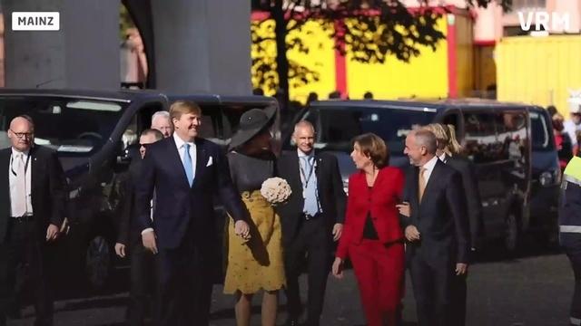 Das holländische Königspaar in Mainz