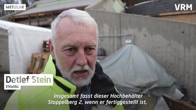 Bau der Wasserhochbehälter auf dem Stoppelberg