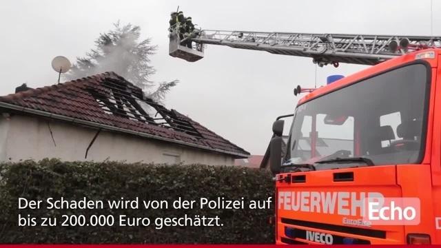 Wohnhaus-Brand in Lampertheim