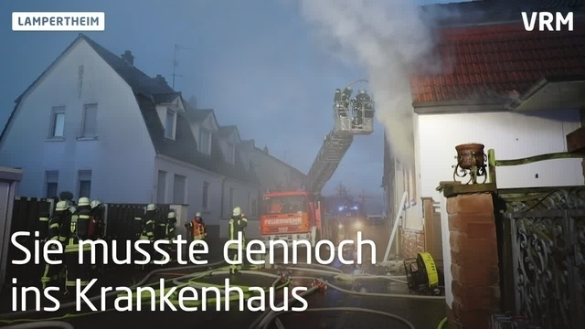 Wohnhausbrand in Lampertheim