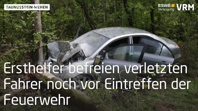 Unfall auf B417 bei Taunusstein-Wehen