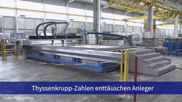 Aktie im Fokus: Thyssenkrupp-Zahlen enttäuschen Anleger, Aktie stürzt ab