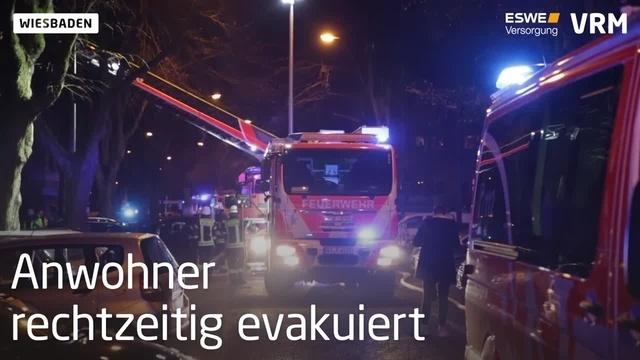 Wiesbaden: Wohnungsbrand in der Wielandstraße
