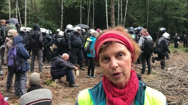 Sabine Leidig zur Räumung des Herrenwaldes