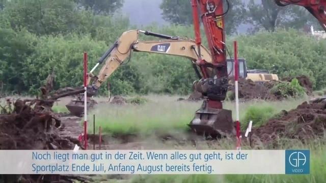 Hindernisse beim Bau des neuen Reiskirchner Sportplatzes