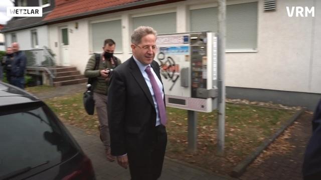 Kritischer Empfang für Hans-Georg Maaßen in Wetzlar