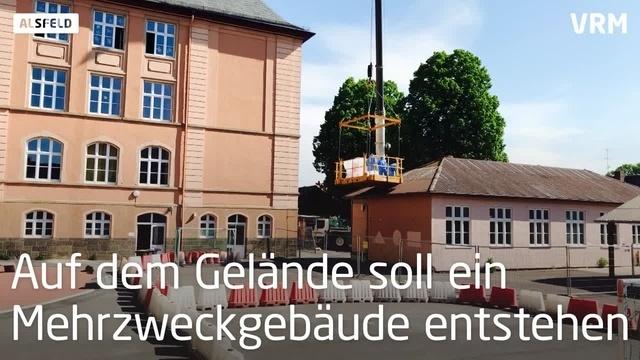 Abriss der Aula der Stadtschule Alsfeld