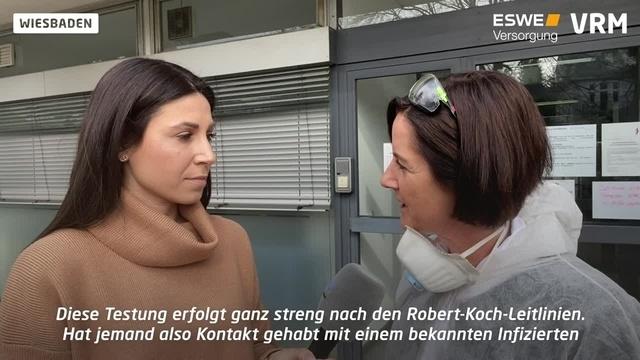 Erste Teststelle für Corona-Verdachtsfälle in Wiesbaden