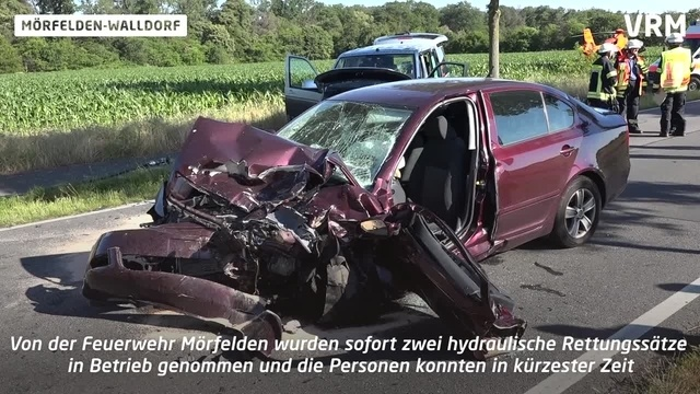 Schwerer Verkehrsunfall in Mörfelden-Walldorf